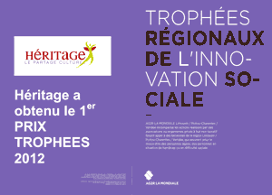 trophée de l'innovation Sociale